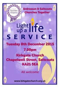 Kirkgate Church, Saltcoats - Light Up a Life Service - Dec 15