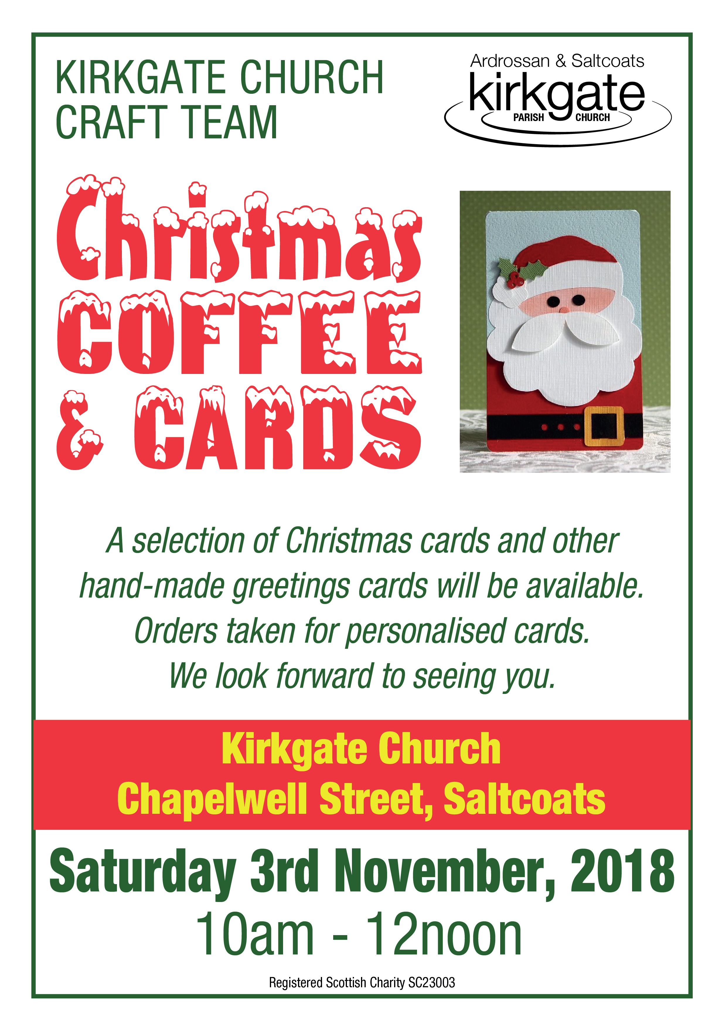 Coffee Christmas Cards.Coffee And Cards Kirkgate Church